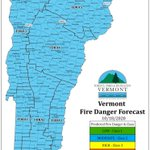 Image for the Tweet beginning: Forecasted fire danger for Sunday