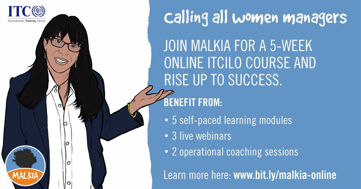 Global disruptions have made line manager roles more dynamic than ever. How are you preparing for change? Join Malkia, the ITCILO's new 100% mobile learning course for women line managers. Register now: https://t.co/KfvxHXoxCU https://t.co/jJnqbpr5Rh