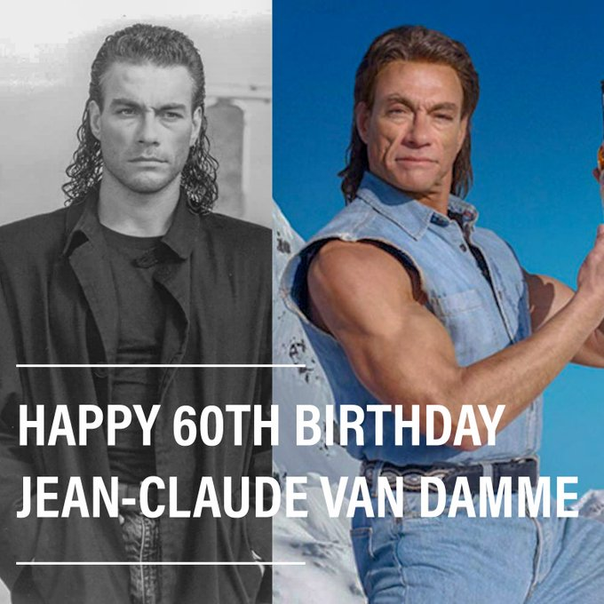 A very happy 60th birthday to Jean-Claude Van Damme