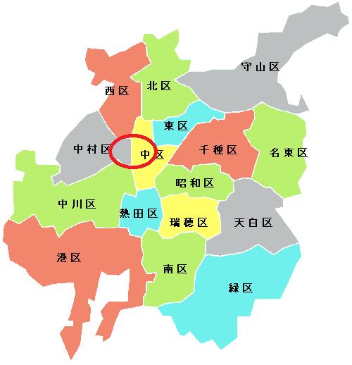 「名古屋って都会だよね」と言った時の名古屋の範囲です