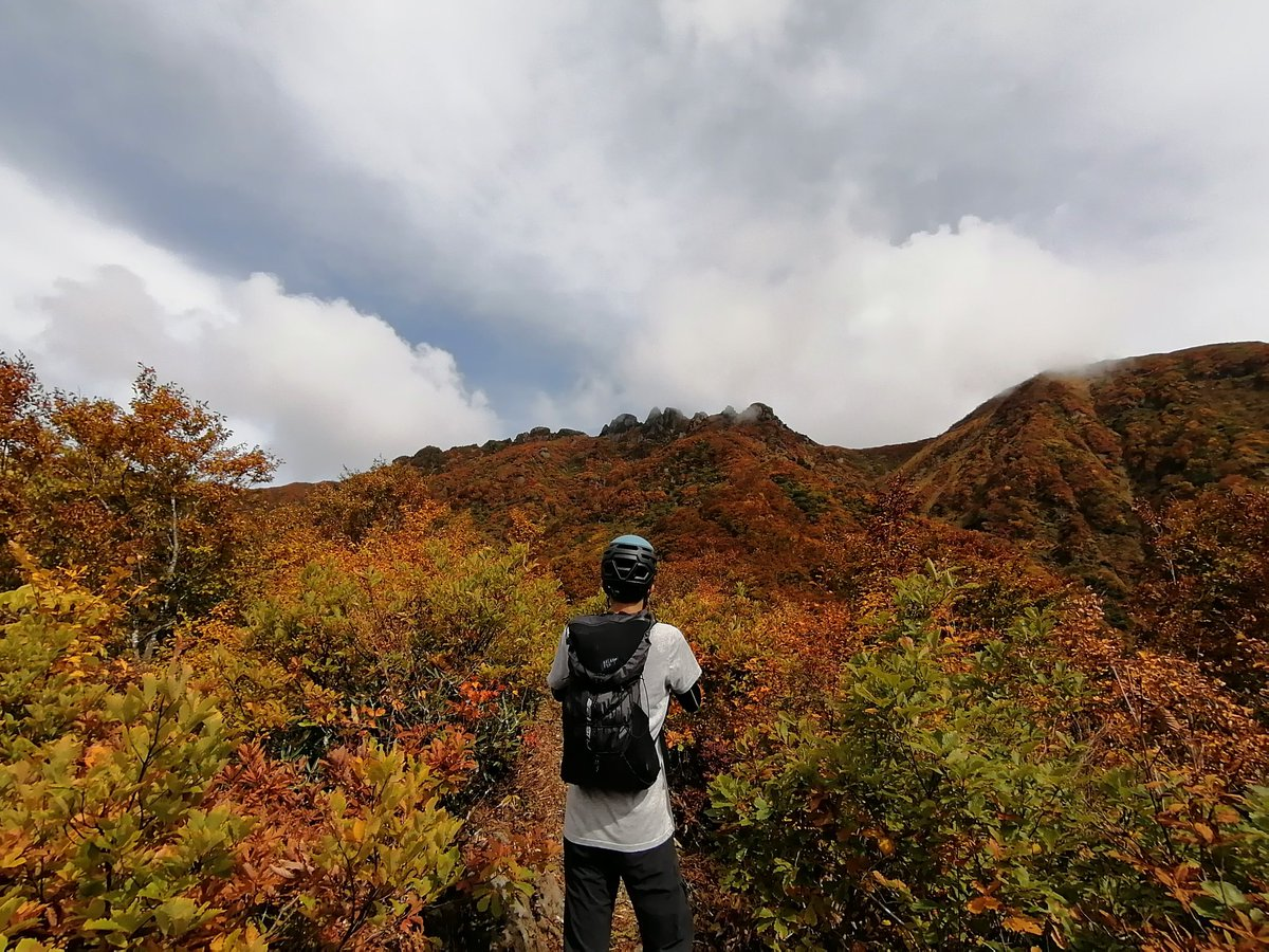八ツ峰が見えるよ。紅葉真っ盛り。本当に大満足な山行だった。 #登山 #山行 #八海山 #紅葉 https://t.co/sXGW6ylHtM