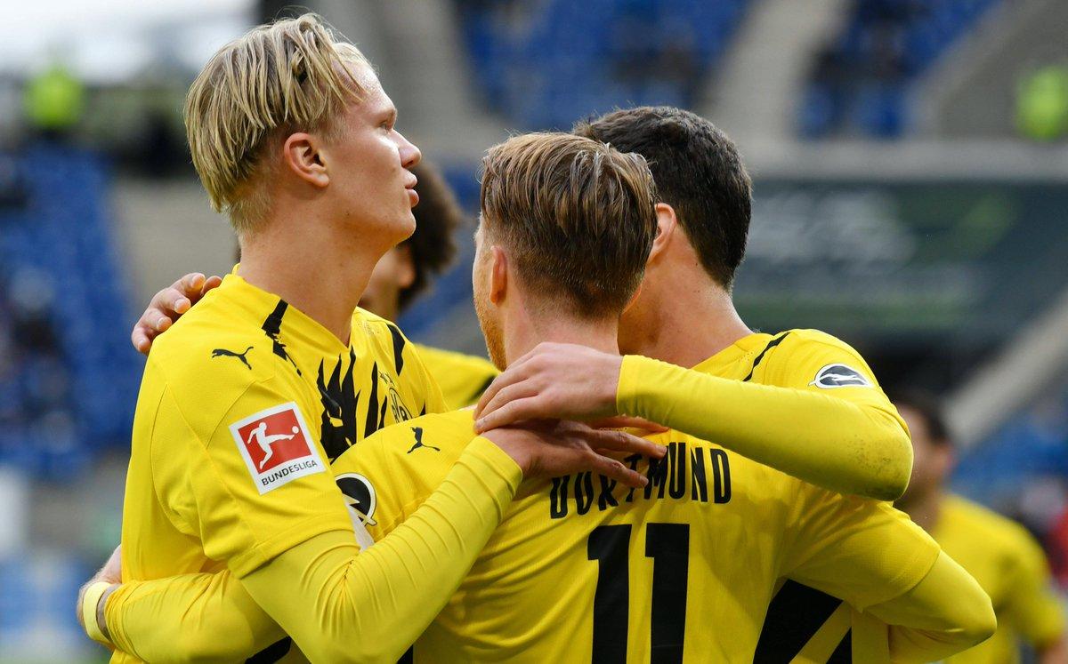👑 Die #BVB-Joker #Reus und #Haaland sichern den Arbeitssieg gegen #Hoffenheim. #Brandt und #Sancho können sich beim 1:0 kaum in Szene setzen.   🔢 Hier könnt Ihr die #Dortmund-er Profis benoten: https://t.co/CQYXyVktp9 #TSGBVB (Foto: imago) https://t.co/qINQnFBQFl