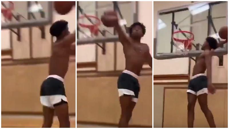 【影片】反手360度灌籃!模板是喬丹+Kobe的超新星,身體素質太炸了!