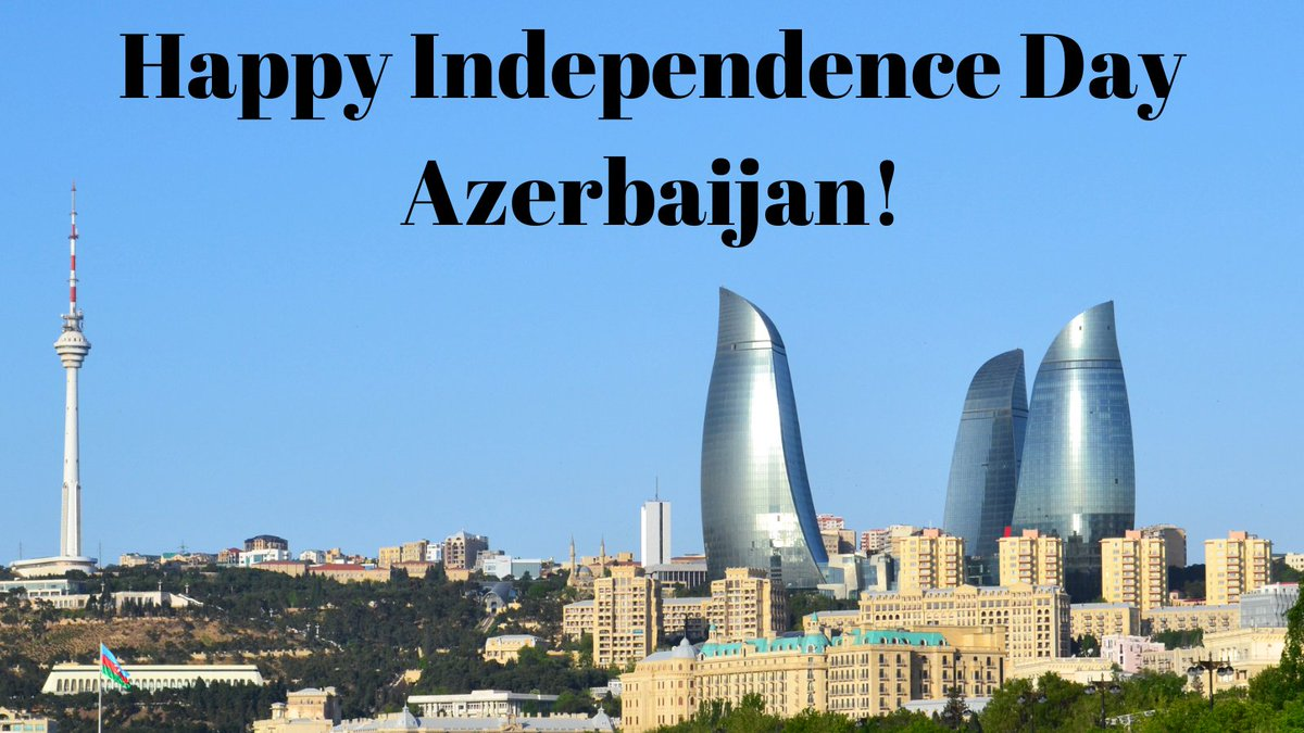The Embassy of Israel congratulates the people of Azerbaijan on the occasion of the Independence Day, and wishes them health, peace and prosperity. https://t.co/Nm1fF2PgXZ