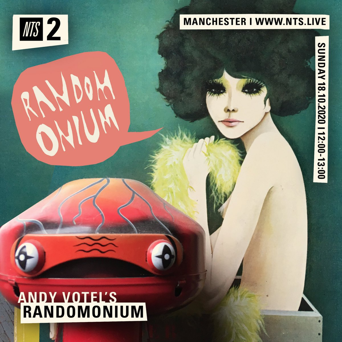 NEW episode of my monthly #RANDOMONIUM radio show for @NTSlive goes out today at MIDDAY! Send me your EARS! 🙏✌️