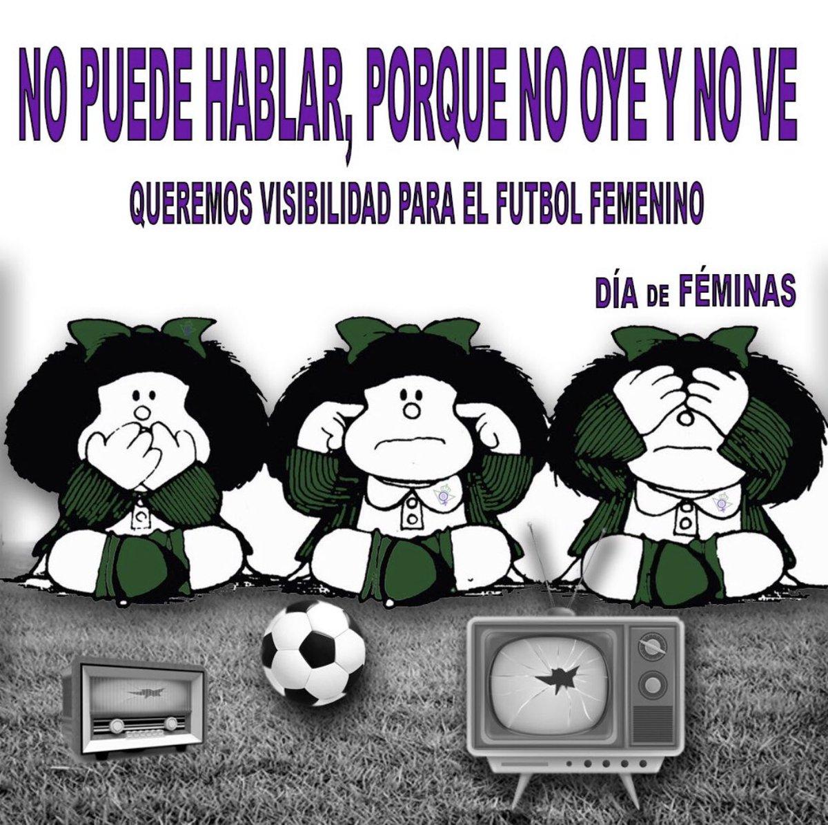 @DiaDeFeminas Queremos que el fútbol femenino siga creciendo, para ello la cobertura televisiva es fundamental #PrimeraIberdrola #DíaDePartido #AthleticRealBetis  @RealBetisFem #3ªJornada #BetisFéminas #VuelveElFutFem