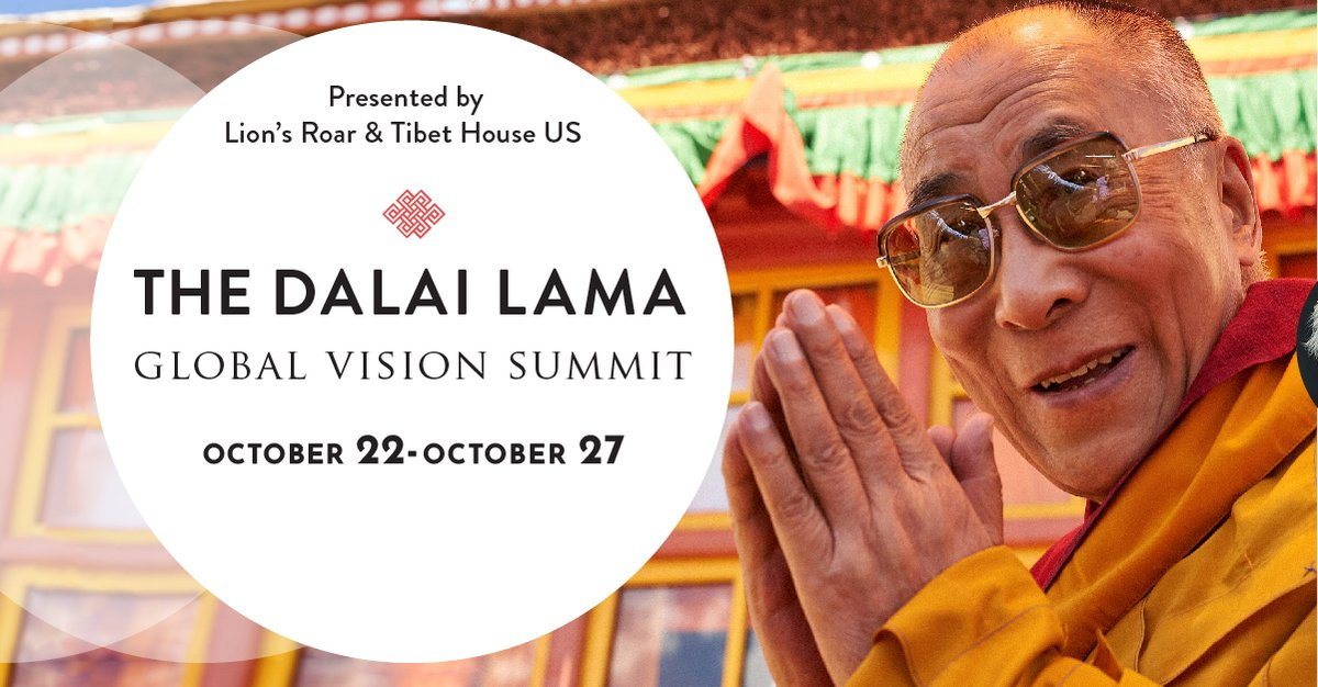 HHDL offers us an incredible example of how to flourish in enormous adversity, with tenacity, ethical conviction and courage. Learn how this perspective can help us rediscover a sense of purpose, community and hope Oct 22-27 Dalai Lama Global Vision Summit bit.ly/3o1CaEm