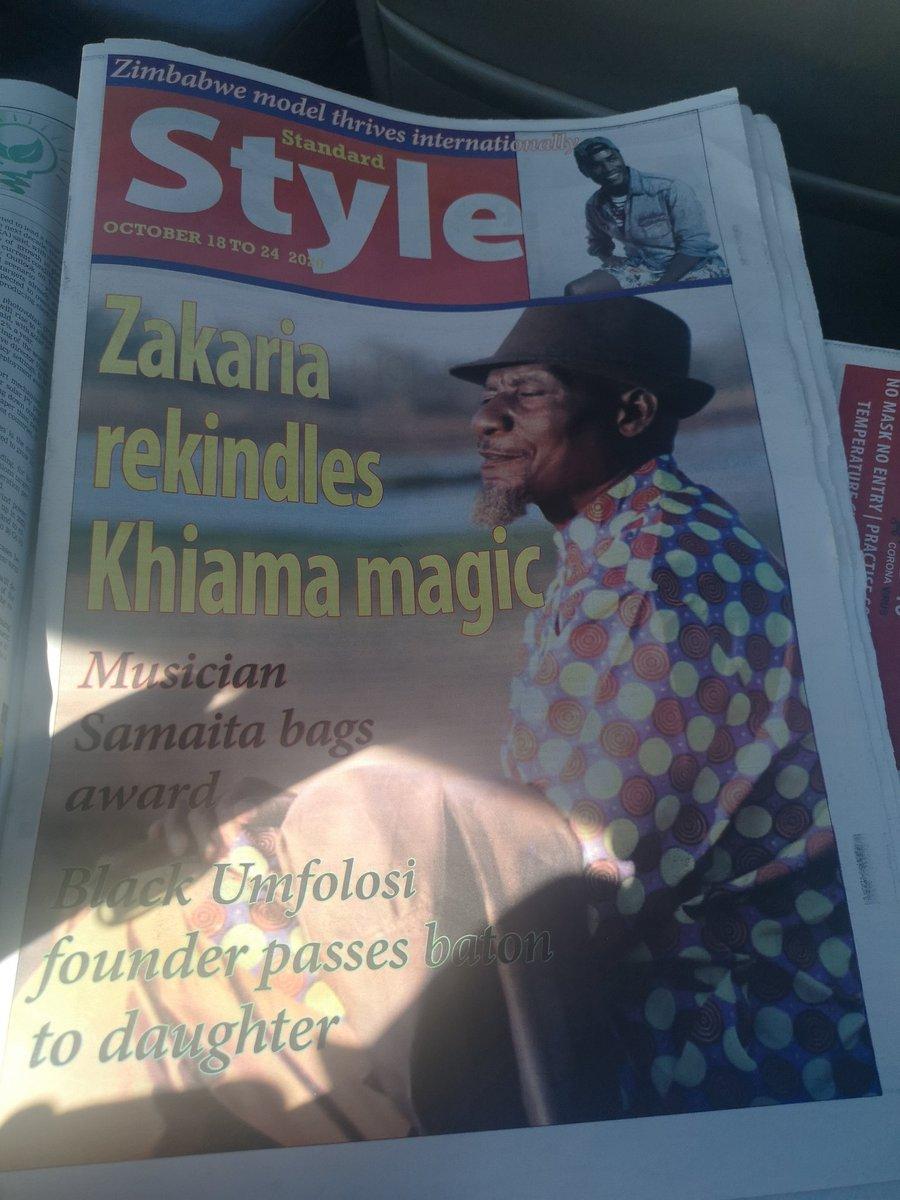 Good times are back at Khiama Boys In The Standard Newspaper today. #sungurayauya #Zadziso2020 #SeniorLecturer @thestandardzim @Mavhure @HMetro_ @IdeasZaka @SunguraCentral @alickmacheso3