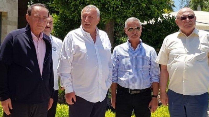 Organize suç örgütü liderliğinden hüküm giyen #Alaattin Çakıcı, eski İçişleri Bakanı Mehmet Ağar, emekli #Korgeneral Engin Alan ve emekli Albay Korkut Eken #Bodrum'da bir araya geldi. https://t.co/AV2P61J8I6