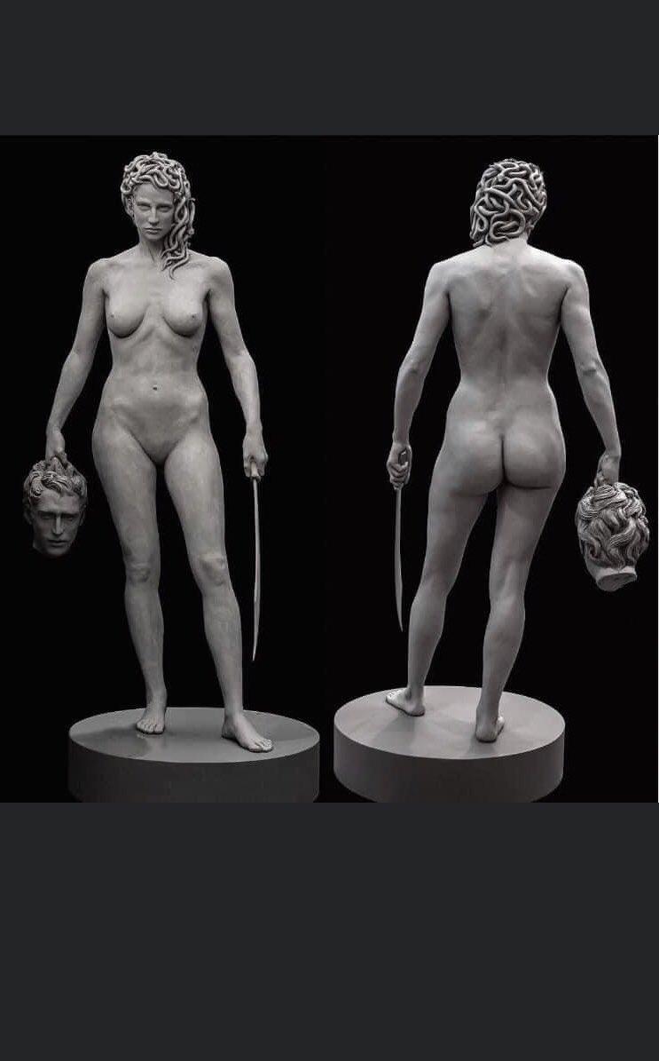 Una estatua de 7 pies de altura de Medusa sosteniendo la cabeza cortada de Perseo será instalada en Manhattan, frente al Tribunal Penal del Condado de Nueva York, la ubicación de casos de abuso contra mujeres.  Y les haré un hilo que nadie pidió sobre esto https://t.co/txUuSBEw60