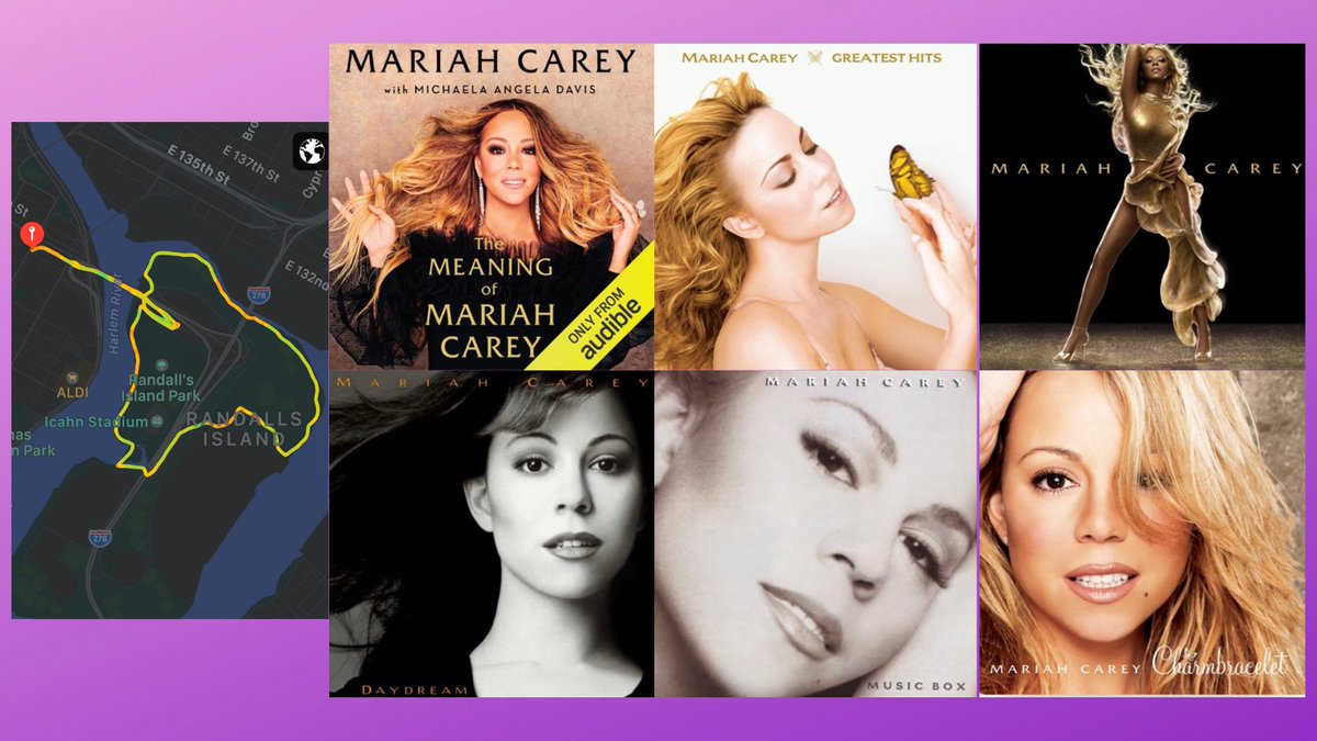 Prob not a good idea to plan an early long run after listening to #TheMeaningOfMariahCarey until 3am. But, the book made me make a nice @MariahCarey slow, long run playlist. #runchat #bibchat #blkrunners #nycrunning #nycrunner #running @nycruns #runner #BibChat #longrunsunday https://t.co/ghtteh99Og