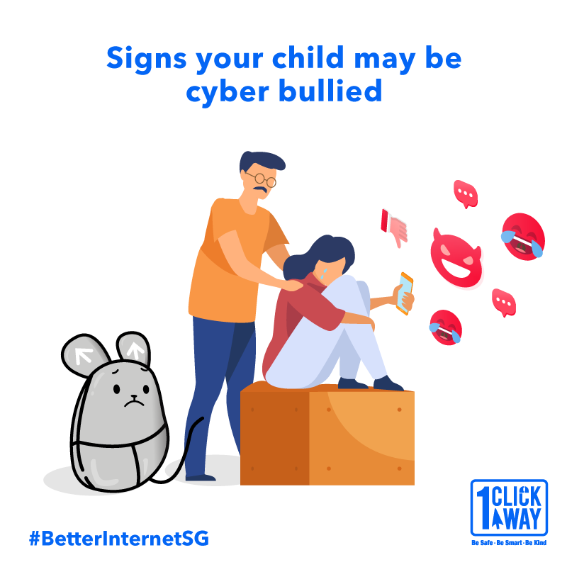 It may be difficult to tell if your child is being cyber bullied as victims often keep the experience to themselves. However, you can keep an eye out for unexplained changes in their digital habits.