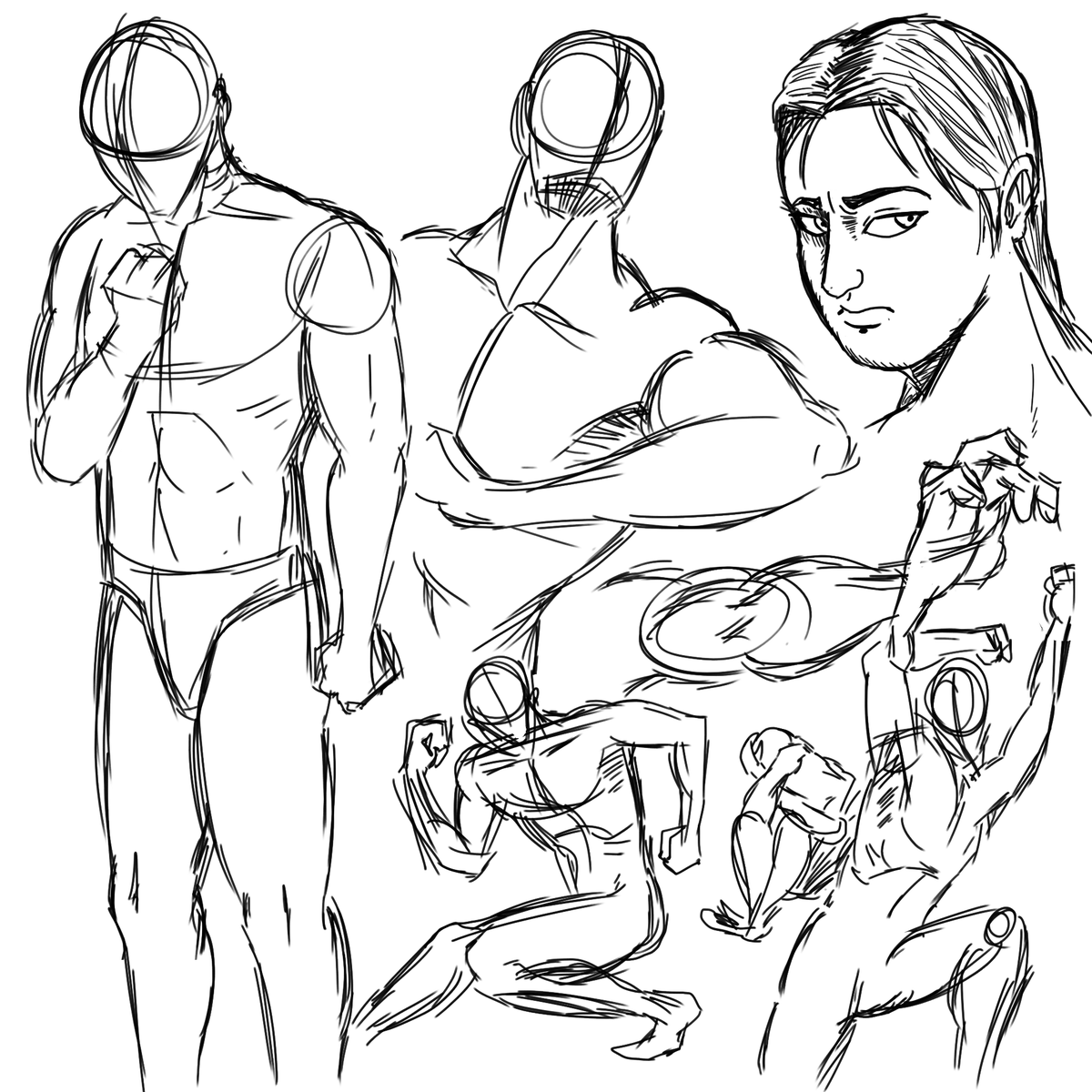 Doing some sketching without reference because, man, I needed to warm up before working again. #sketch #boceto #drawing #dibujo #WarmUps  #anatomy #probablybadanatomy https://t.co/xyubsRQOth