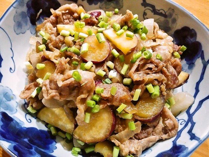 「豚肉とさつまいもの甘辛生姜炒め 」作りました疲れたとき、肉が答えです#ククれぽ
