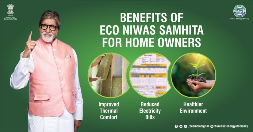 ECO Niwas Samhita gives you maximum #energyefficiency opportunity & is a win-win situation for homeowners as well, as it helps in reducing monthly electricity bills. Insist your builder to follow the ECO Niwas Samhita guidelines for construction of your home. #BEEnergyEfficient https://t.co/wsBIMrRI5f