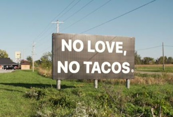 """🌊🌊""""No love, no tacos!""""   - Alphonso Medina, owner of his family restaurant, Marshalltown, IA.  #BLM  #womenshealth  #Science is Real  #CleanWater #NoHumanIsIllegal ...""""I'm going to close on Election Day + not only pay my employees, but I'm going to volunteer at the polls."""" https://t.co/aBIZgdodmq"""