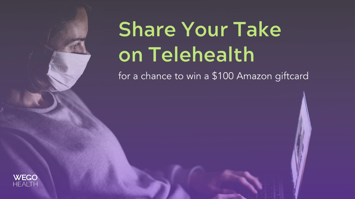 Is Telemedicine here to stay? Weigh in here for a chance to win a $100 Amazon giftcard: https://t.co/kiKcZEUlyY  #Telehealth #PatientPerspective https://t.co/O1xAbPsg2A