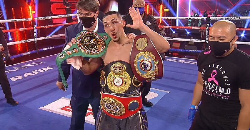 """""""The Take Over"""", Teofimo Lopez beats Vasiliy Lomachenko & becomes the undisputed 4-Belt  Lightweight Division #Boxing Champion    #LomavsLopez https://t.co/UkeGWrBrxZ"""