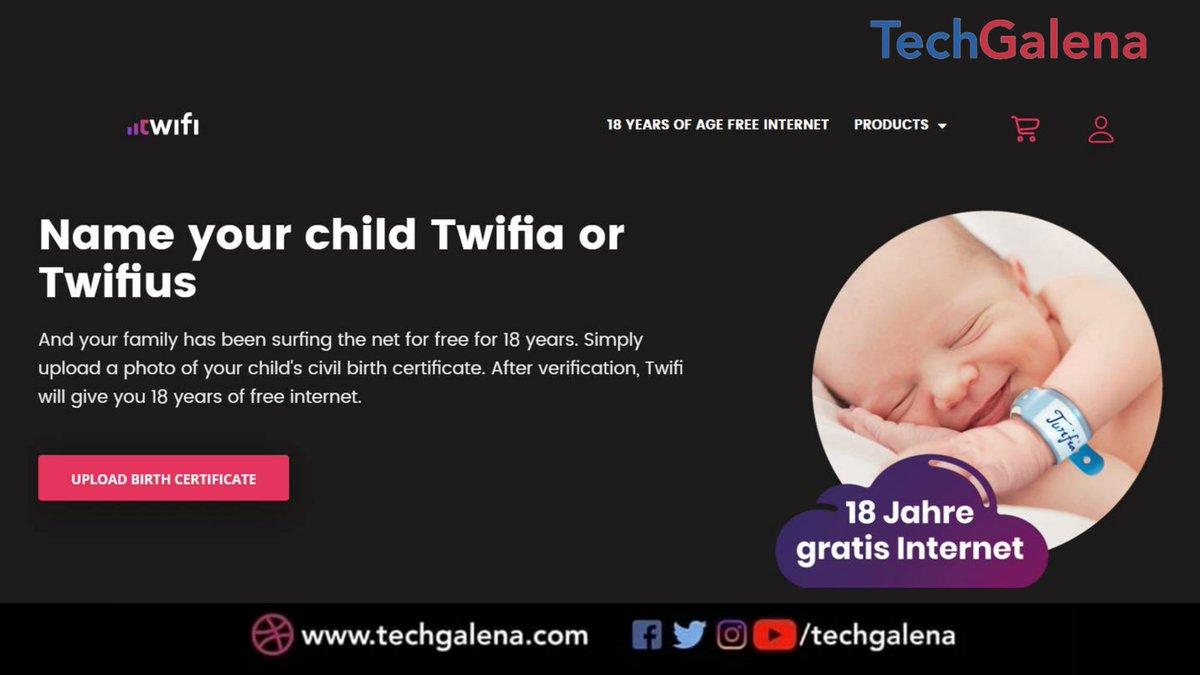 """Perusahan penyedia layanan internet di Swiss mengumumkan bahwa mereka akan memberikan akses internet gratis selama 18 tahun. Dengan catatan sebuah keluarga harus menamai anaknya """"Twifia"""" atau """"Twifius""""."""