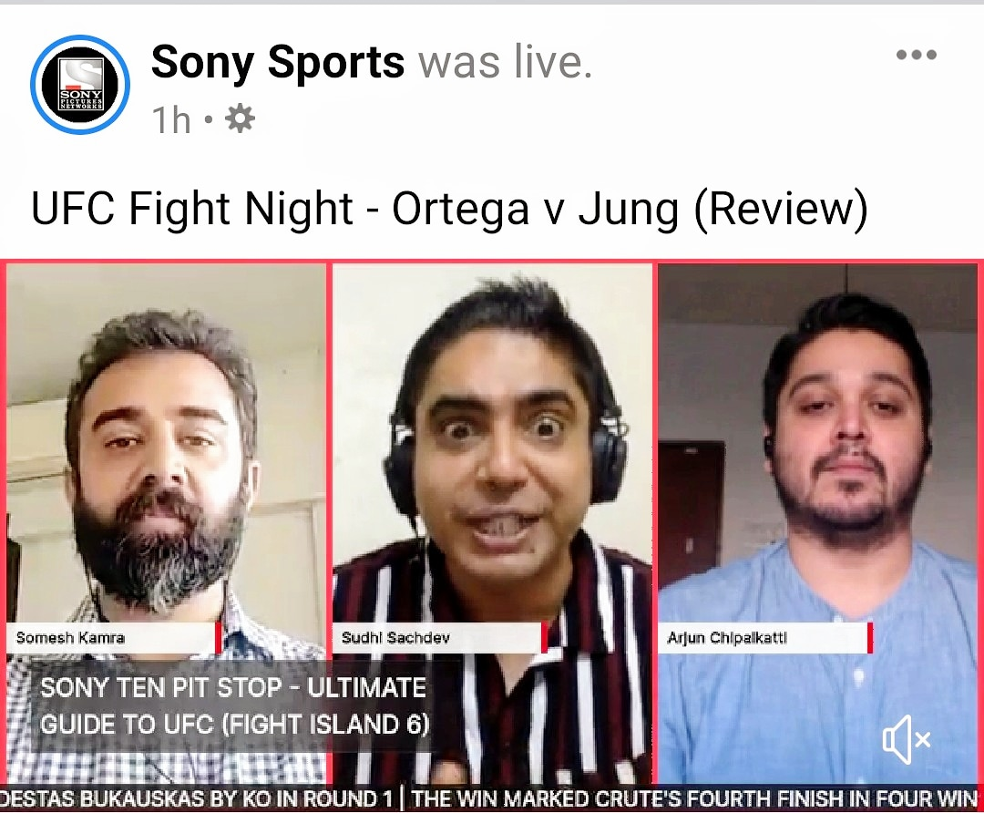 Another cracking episode of the #UltimateGuidetoUFC covering important aspects of the Ortega-Zombie event.  Had some technical issues, but got over it... Just like Ortega :)  Link in Bio.  #ufc #postfight #show #India #sirfsonypardikhega #fightnight #180 #InAbuDhabi #YasIsland https://t.co/W1m73pKfyk