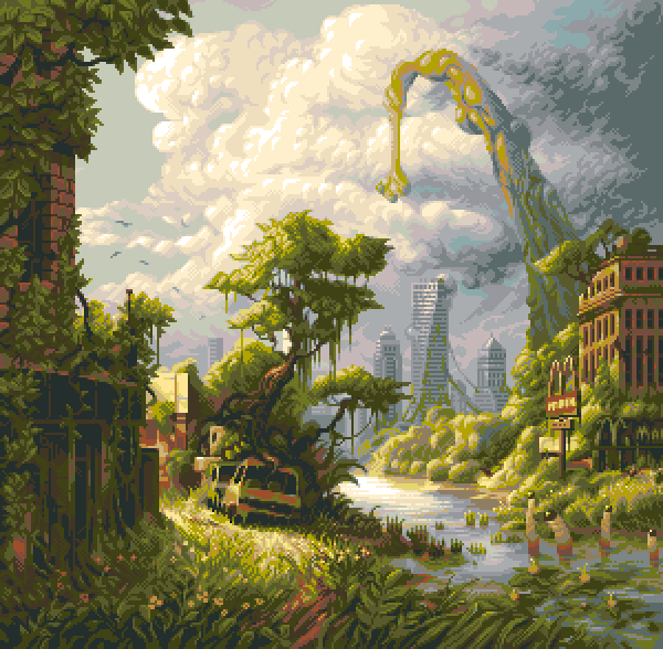 #PortfolioDay or #Pixelartday - no matter I missed everything anyway.. All I know that Im still drawing #pixelart