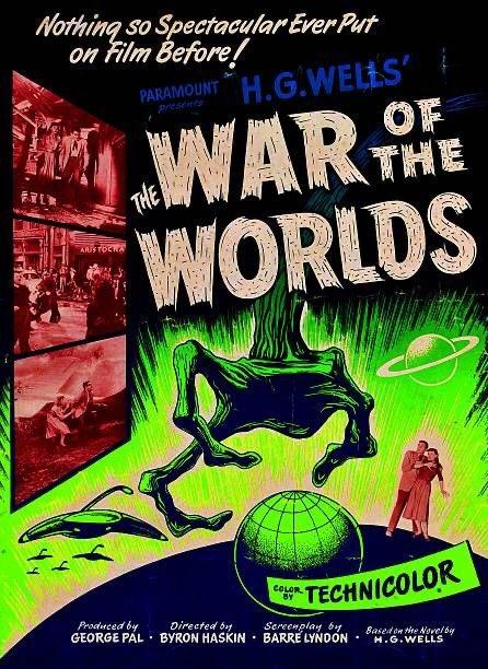 Affiche d'époque pour LA GUERRE DES MONDES de George Pal (1953) https://t.co/mORPnxLA2w