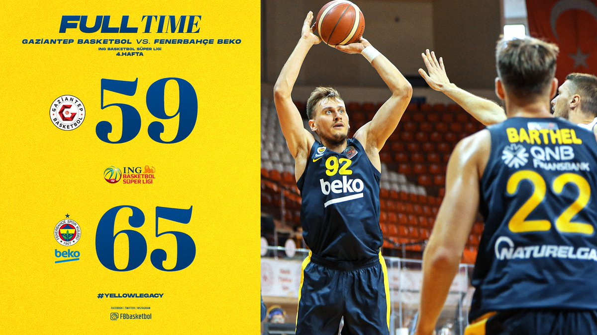Gaziantep Basketbol 59-65 Fenerbahçe Beko  🔗 https://t.co/EauKOdozzA https://t.co/7OOXT3no8O