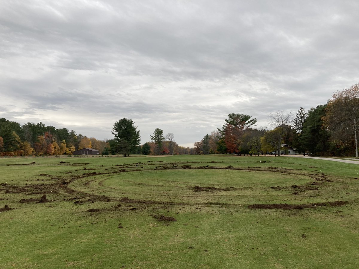 Someone with a truck on the course overnight. First time in 40 years 😔 https://t.co/U0hw3994On
