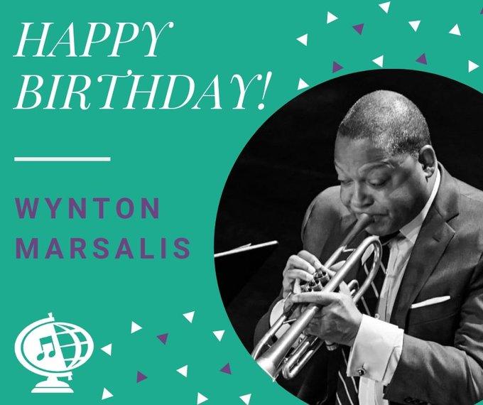 Happy 59th birthday to Wynton Marsalis!