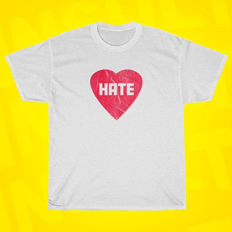 Hate Heart - Check out all of our designs at https://t.co/gfUkCxKxPR (Link in bio).  #tshirt #tshirts #shirt #instagood #insult #offensive #novelty #sarcastic #evil #heart #heartless https://t.co/r2qQfO7XQx