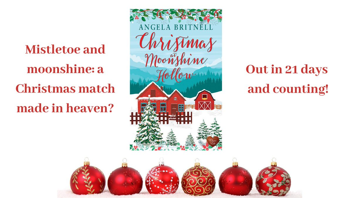 Only 21 days until my new Christmas trans-Atlantic romance is released! #PreOrder #tuesnews @RNAtweets @ChocLituk https://t.co/zRqWEeiY1W #Tennessee #Cornwall #moonshine #distillery #smalltown #family #familysecrets #Christmas #ChristmasReads #NewRelease https://t.co/YQK8qyua36