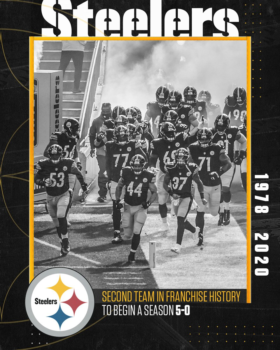 My beloved PITTSBURGH STEELERS are 5-0 for the 1st time since 1978! This blows my mind because #SteelersNation has had so many AMAZING seasons since then, but we were never 5-0! Well, we are now and that's all that matters! #PittsburghStrong #BlackAndYellow #NFL #HereWeGo 🏈🖤💛 https://t.co/Boh1rbICAh