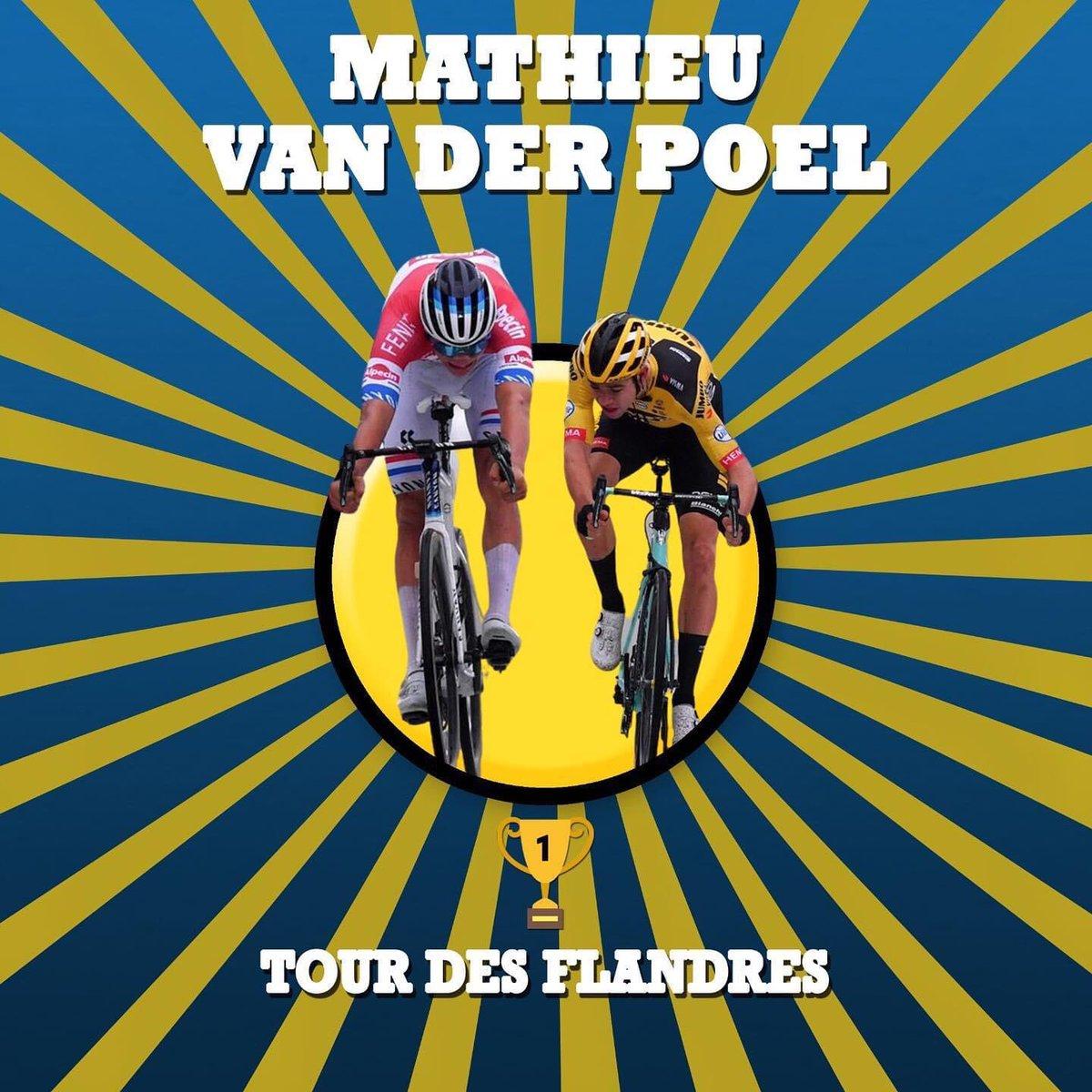 🚴♂️L'omaggio di #Fantacycling a Mathieu Van der Poel, vincitore del Giro delle Fiandre 🚀 #RVV2020 #LaRonde #GirodelleFiandre #VDP #VanderPoel https://t.co/SZbV9XbC6r