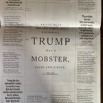 Image for the Tweet beginning: Full page in NYT quoting