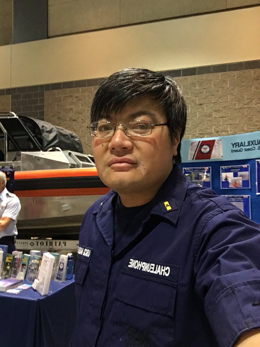 Although technically not employed by the #USCG, we want you to meet Nick Chaleunphone, a @USCGAux member. Shes been part of the Coast Guard family since 2005. Nick happens to be deaf in one ear and has been since birth. #NationalDisabilitiesEmploymentAwarenessMonth