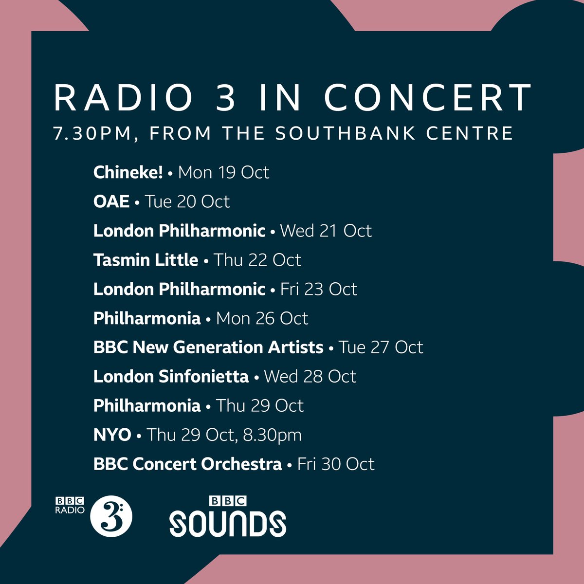 Starting Monday, we have a series of concerts coming to you live from the @southbankcentre, beginning with @Chineke4Change Listen on @bbcsounds bbc.in/358dGk9