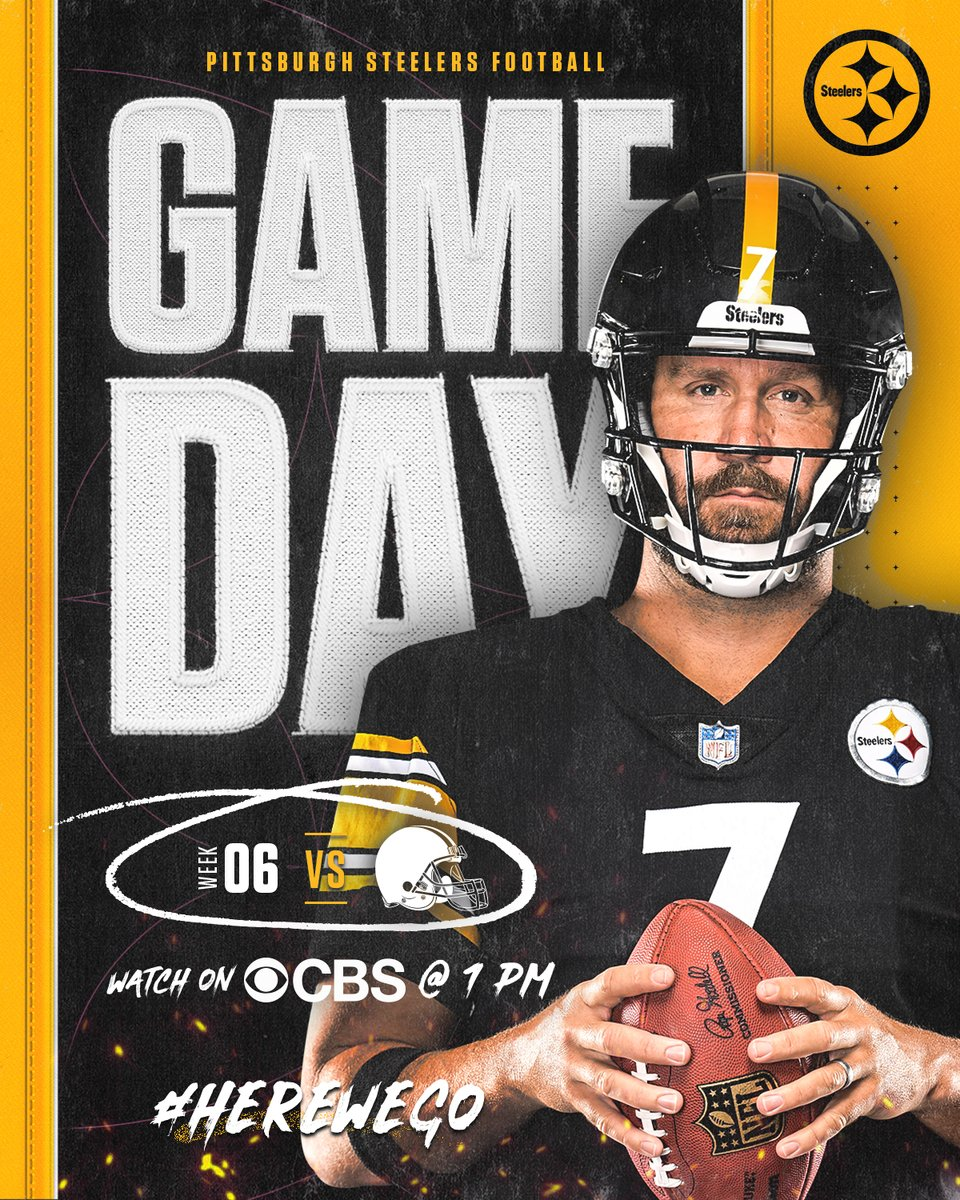 Good luck to my beloved PITTSBURGH STEELERS as they host Cleveland Browns today in #NFL Football action! Go #BlackAndYellow, BEAT the Browns! We'll be cheering our HEARTS out for you, as ALWAYS! Just WIN, baby! #SteelersNation #PittsburghStrong #FootballIsLife #HereWeGo 🖤💛 https://t.co/t8LsLpmgAS