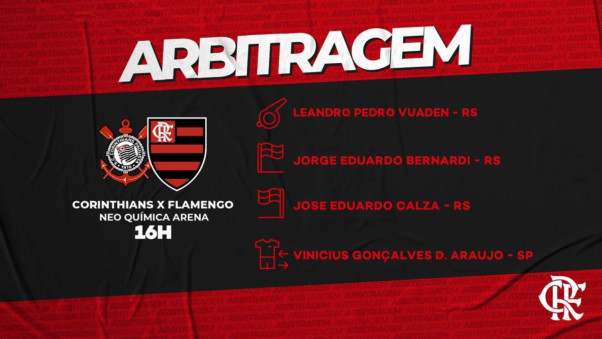 A arbitragem da partida está definida. #CORxFLA #VamosFlamengo