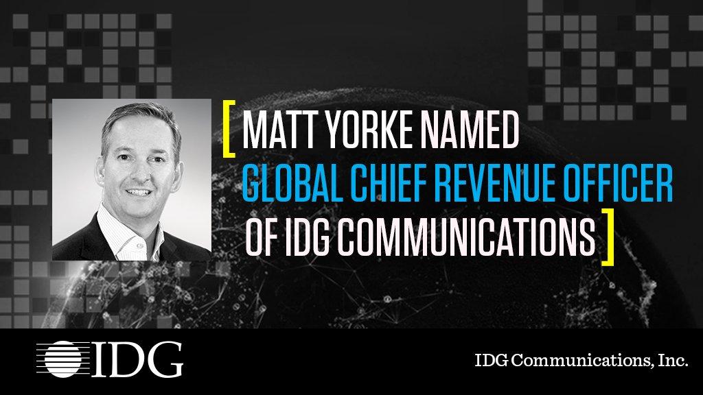 Have you heard? @IDGworld is excited to welcome Matt Yorke to the team! https://t.co/6IEhZ8SBZo @matt_yorke #weareidg  #welcometotheteam #mediamartec #customercentric https://t.co/k0GxlpEury