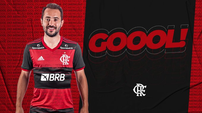 GOOOOOOOOOL! De cabeça Everton Ribeiro abre o placar para o Mengão