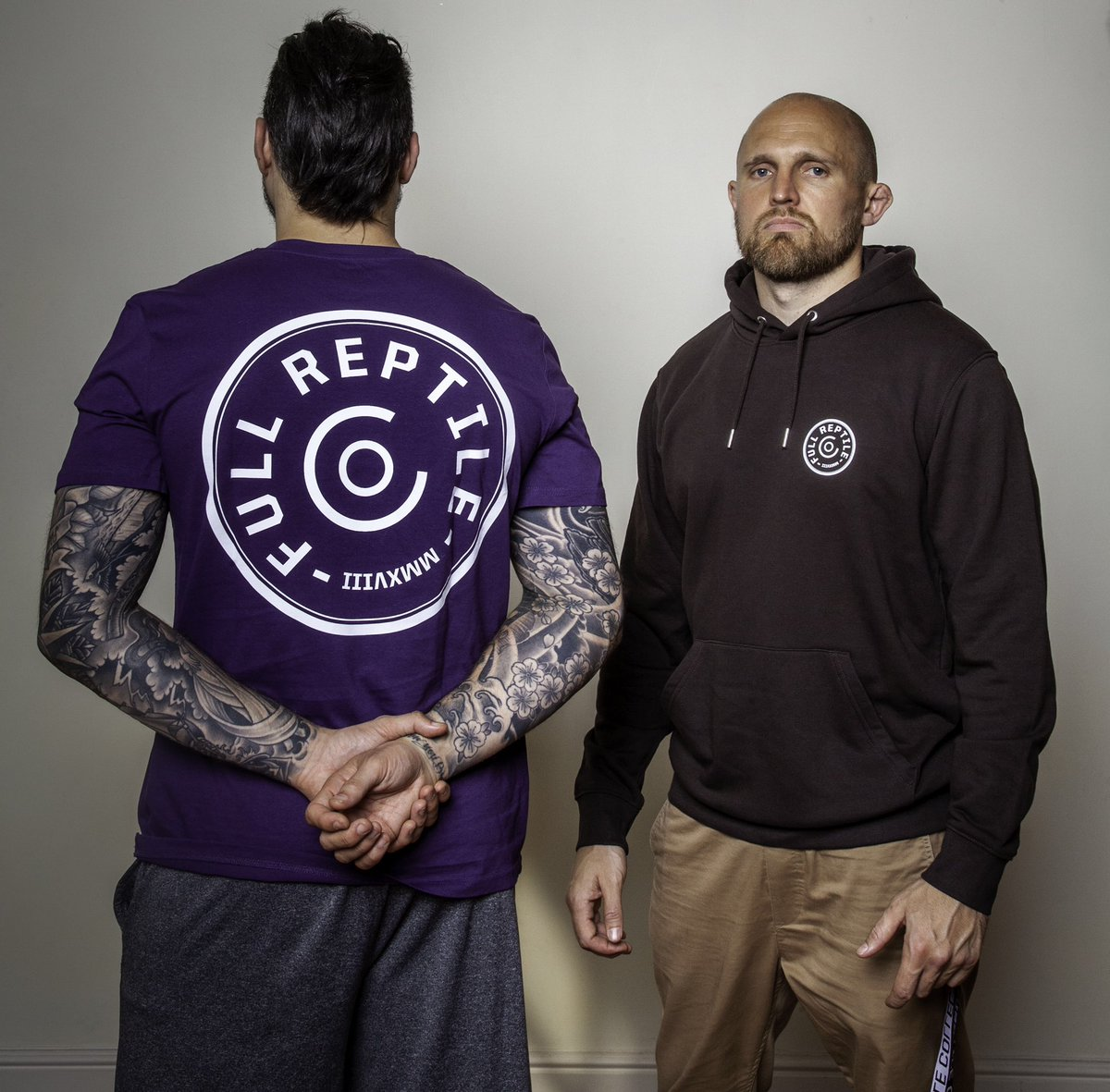 Co-Founders @danhardymma and @ollierichardson in the Bullet and Esoteric range of t's and hoods.  Join the crew now at https://t.co/7WGFZC96wQ   #FullReptile #Esoteric #FightIsland #JoinTheCrew #RoughHouse https://t.co/q9cf1xftQT