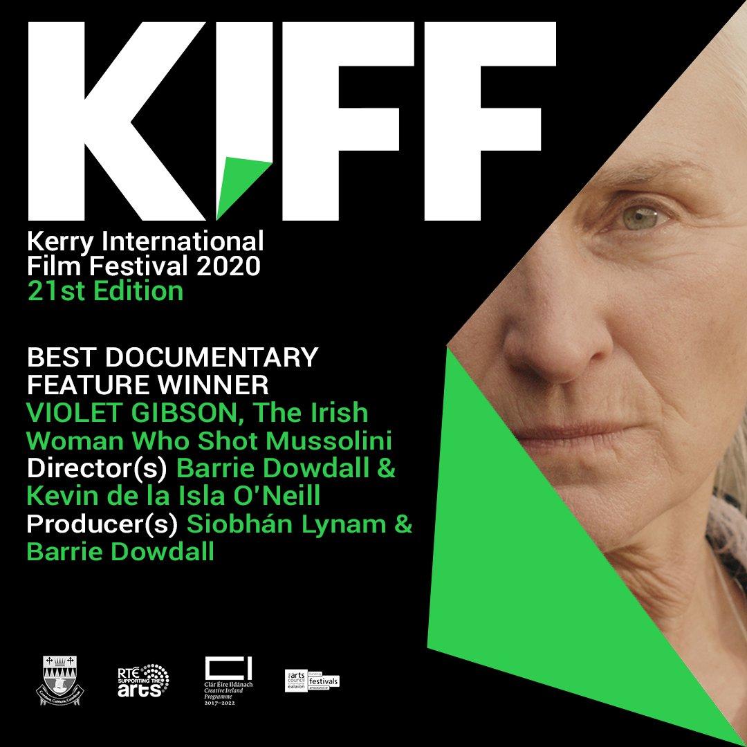 BEST DOCUMENTARY FEATURE WINNER: VIOLET GIBSON, The Irish Woman Who Shot Mussolini #irishfilm #KIFF https://t.co/18L3ZRZ5Vp