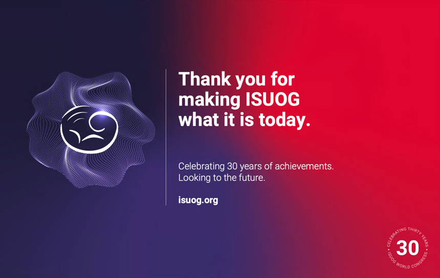 #ISUOG2020 is officially over. Thank you to our incredible faculty, speakers, delegates & exhibitors for making it possible. Our Virtual Congress was the largest yet with over 3000 attendees & we look forward to the future as we celebrate our 30th anniversary. #LoveUltrasound https://t.co/T1wjwK7Uwv
