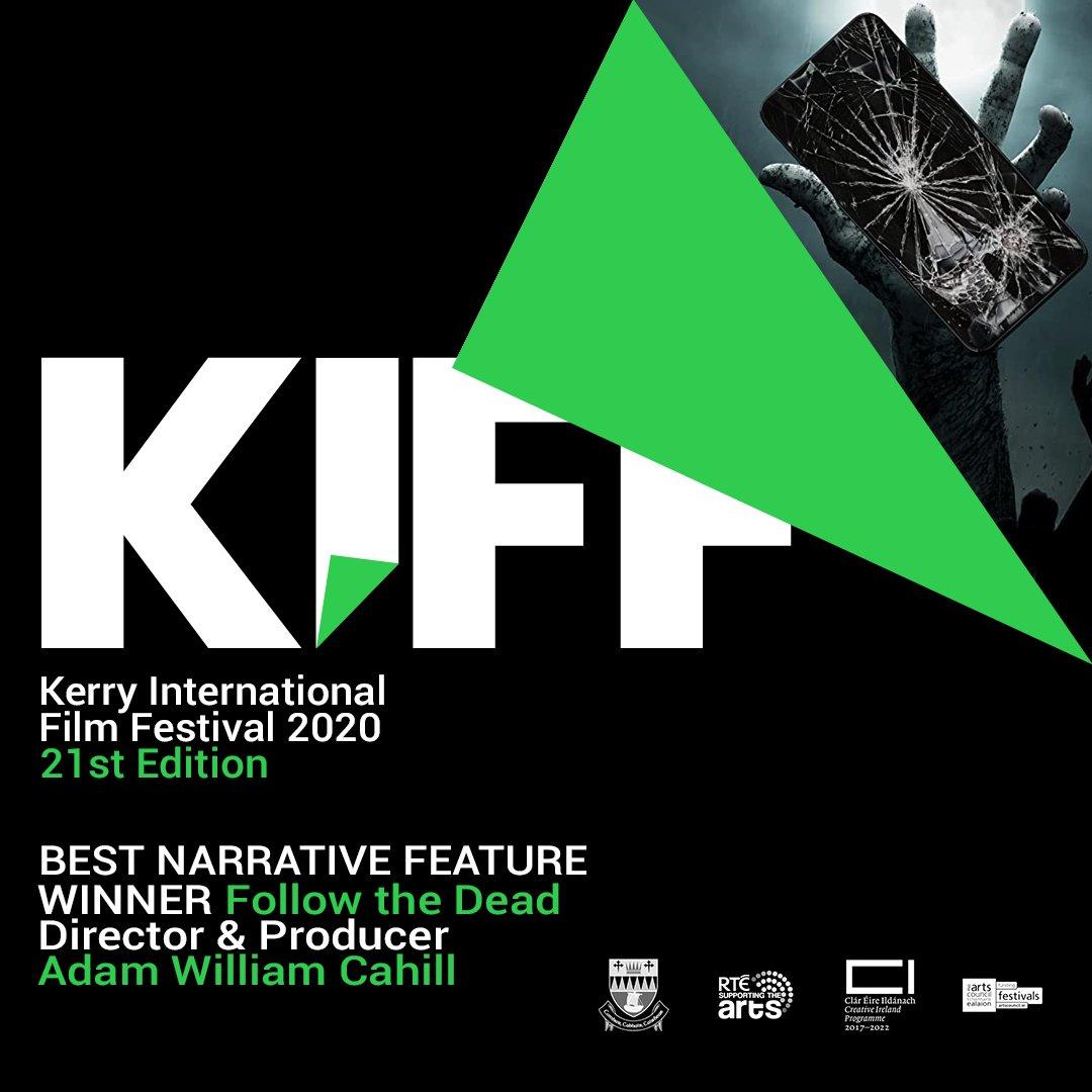 BEST NARRATIVE FEATURE FILM WINNER: Follow the Dead  #irishfilm #KIFF https://t.co/oIwM7QsviG