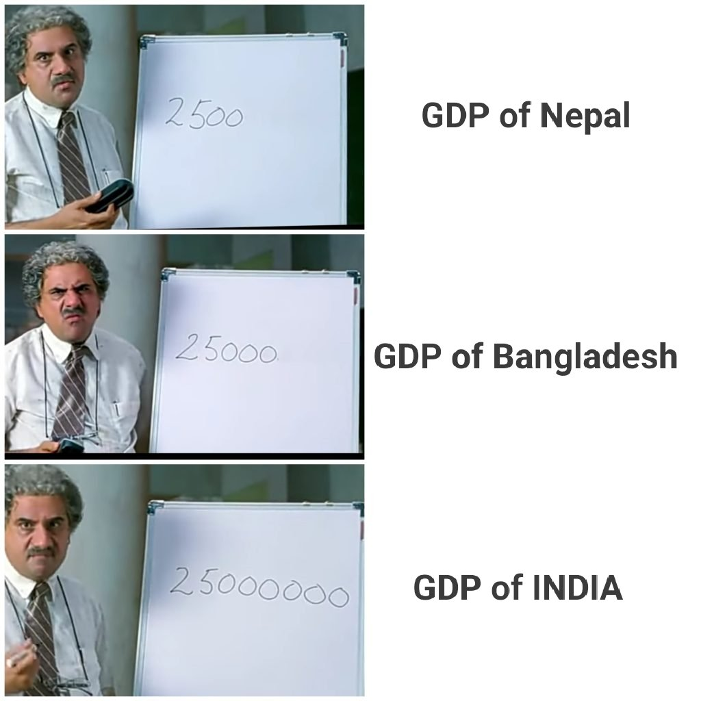 For All Madarsachaap's to understand the difference between Nepal, Bangladesh and India's GDP #GDP #GDPofIndia https://t.co/rDqBFjZXbf
