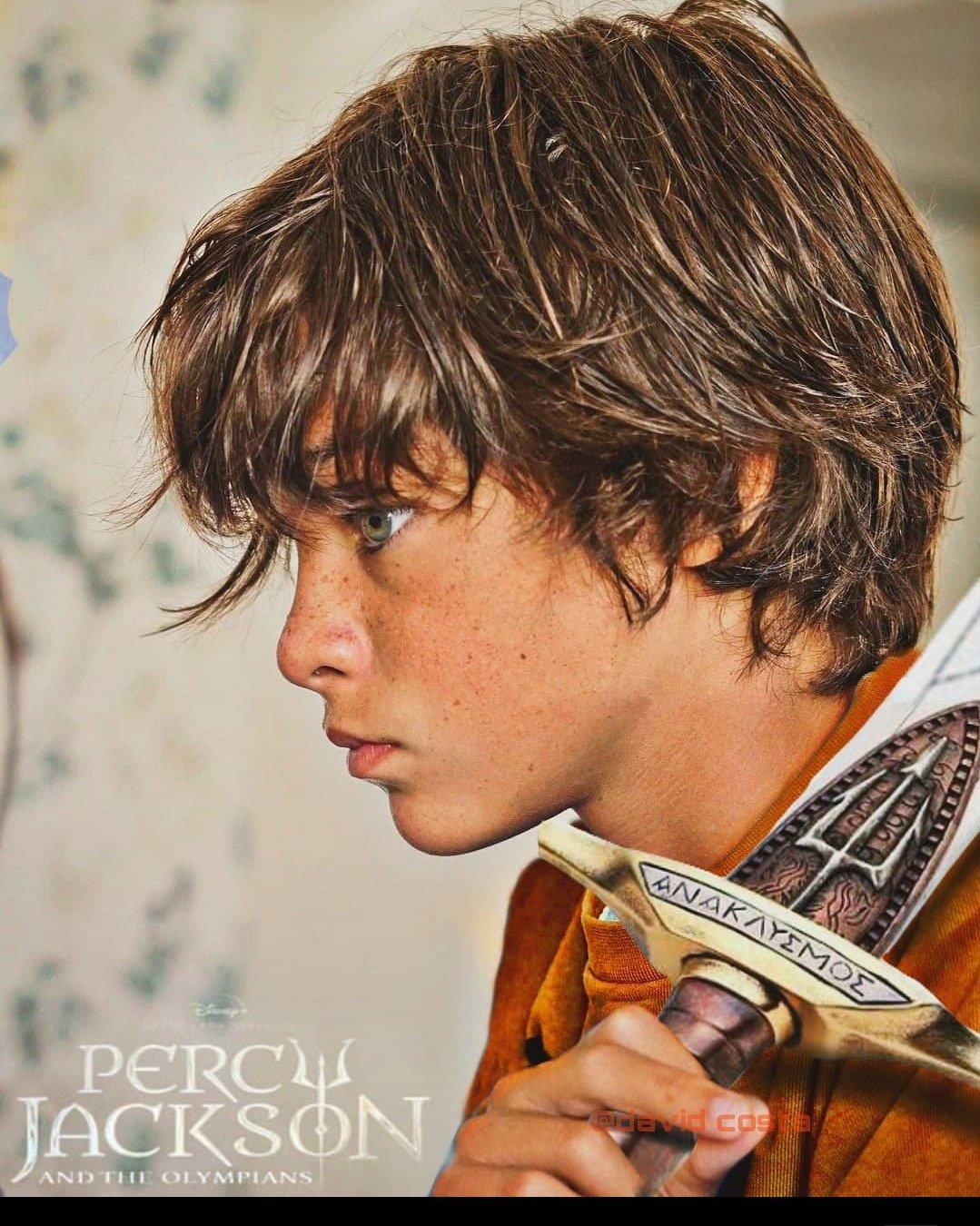 Jorge Benito, fã da saga Percy Jackson.