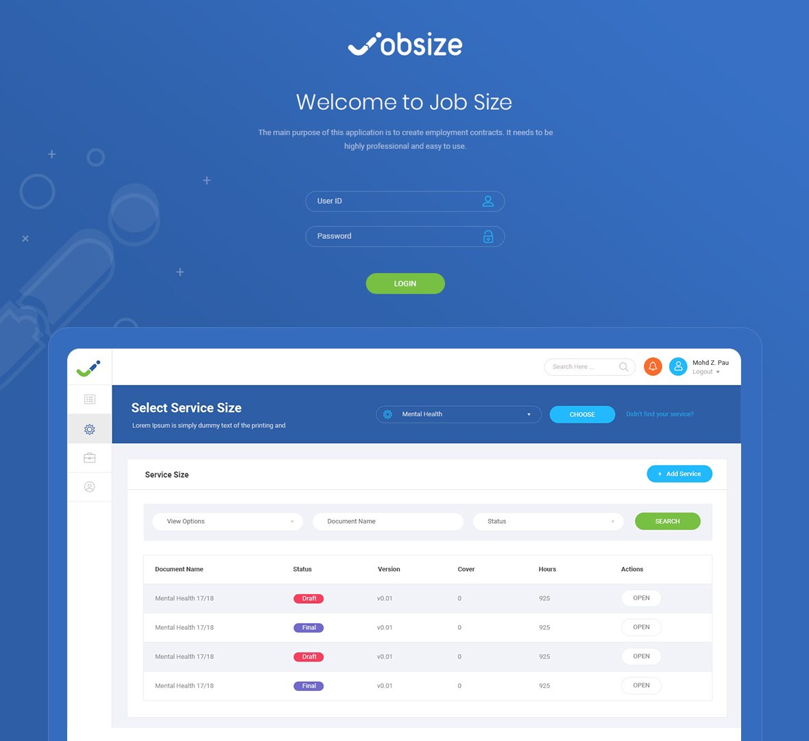 User interface design for Jobsize dashboard to create employment contracts.  تصميم واجهة المستخدم للوحة تحكم خاصة باعداد عقود الموظفين.  #ui #ux #webdesign #websitedesign #designer #dashboardlayout #dashboard #dashboarddesign  #تصميم_مواقع #تصميم_واجهات   #لوحة_تحكم #مصمم_مواقع https://t.co/PynVJqSI8h
