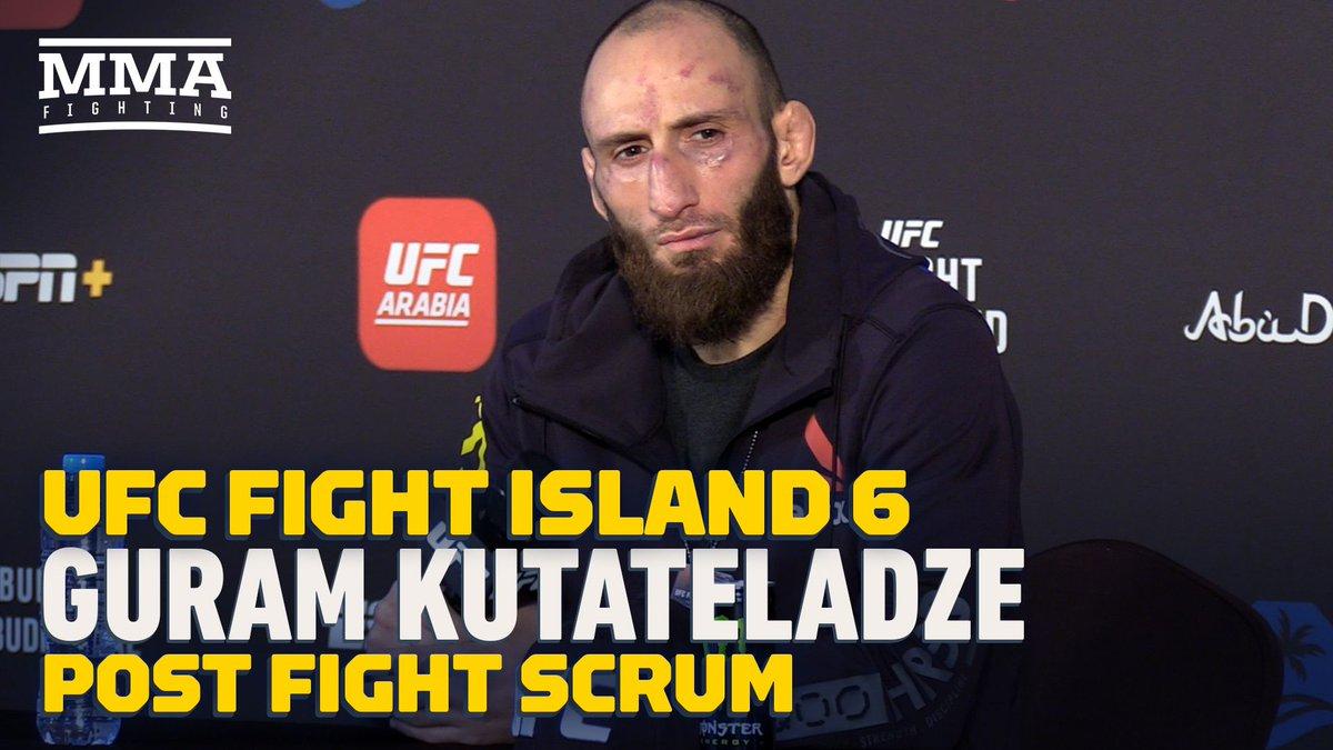 Video: Guram Kutateladze offers to fight Islam Makhachev at UFC 254 following win over Mateusz Gamrot https://t.co/PBVQQcMvpn https://t.co/cvp6UX3kXX