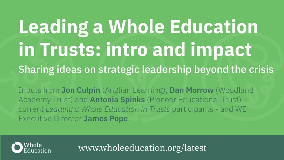 Trust leaders: committed to a values-based education across your family of schools? Keen to collaborate with peers and share ideas on how to do it? Watch 'Leading a Whole Education in Trusts' intro with @popejames @MoreMorrow @AntoniaSpinks  and Jon Culpin https://t.co/V11FIQpjsg https://t.co/SdT7kXOhFn