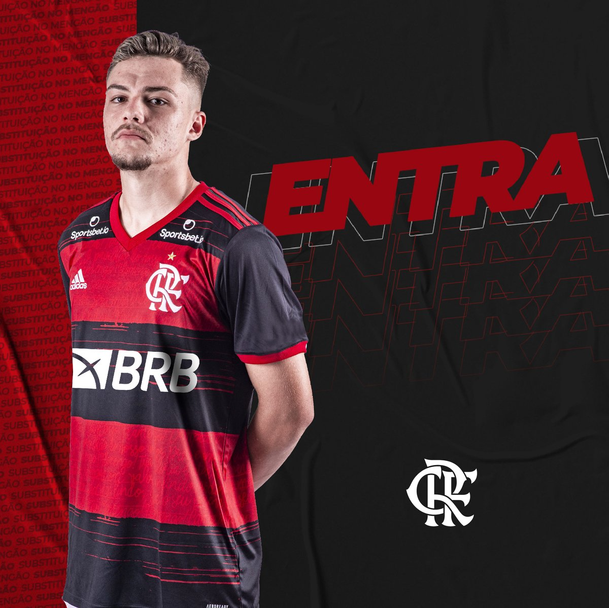 38 | 1ºT | 0-1 - Substituição no Flamengo! ▶️Entra: Noga ◀️Sai: Gustavo Henrique #CORxFLA #VamosFlamengo